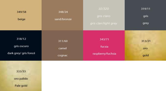 Colores disponibles en 150 ml